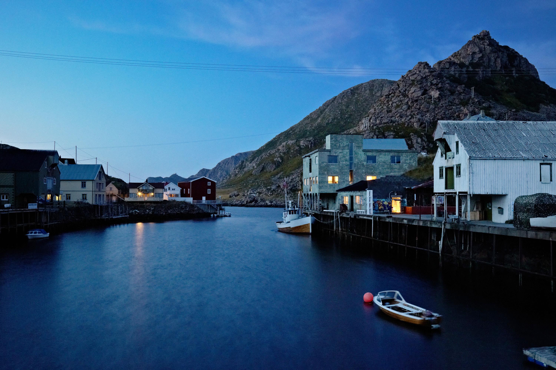 Nyksund Vesterålen Noorwegen, oude vissershaven