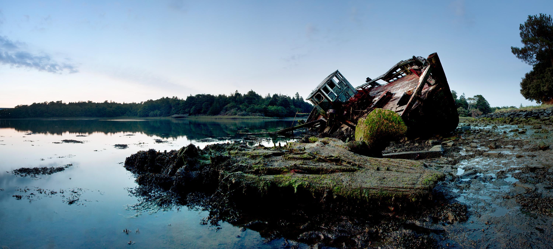 Panorama scheepswrak Benodet Frankrijk