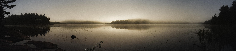 Setesdal in mist Noorwegen