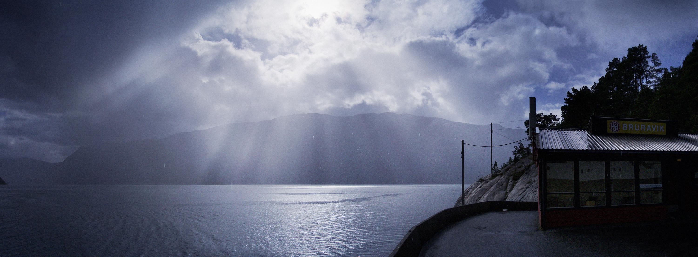 Hardangerfjord veer Bruravik Noorwegen