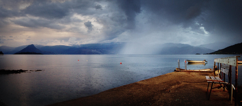 Hardangerfjord Noorwegen, Norheimsund, Folgefonna gletsjer