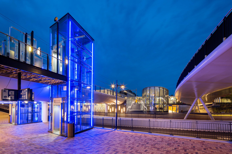 Station Helmond fotografie in opdracht van Glasdesign