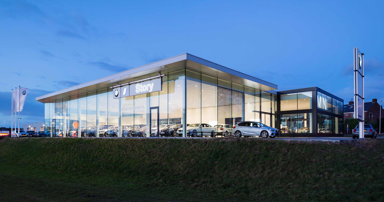 BMW-garage Story Nijmegen, fotografie in opdracht van Glasdesign