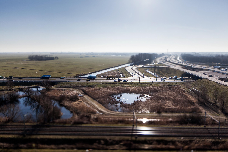 Verbreding A4 Leiden, fotografie in opdracht van bureau Smitswater